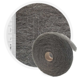 Stainless Steelwool COARSE - roll 5kg