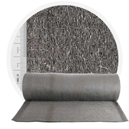 Stainless Steel Wool 1.4113 crossed 1000 mm - 70 μm, ± 900 gr/m2