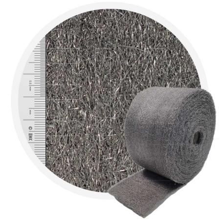 Stainless Steel Wool 1.4113 crossed 200 mm - 70 μm, ± 900 gr/m2