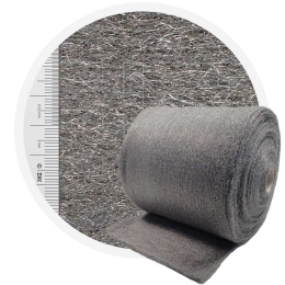 Stainless Steel Wool 1.4113 normal 400 mm - 70 μm, ± 850 gr/m2