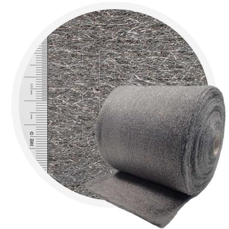 Stainless Steel Wool 1.4113 normal 400 mm - 70 μm, ± 850 gr/m2
