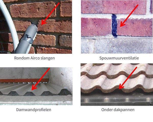 Voorbeelden van staalwol tegen muizen en ratten